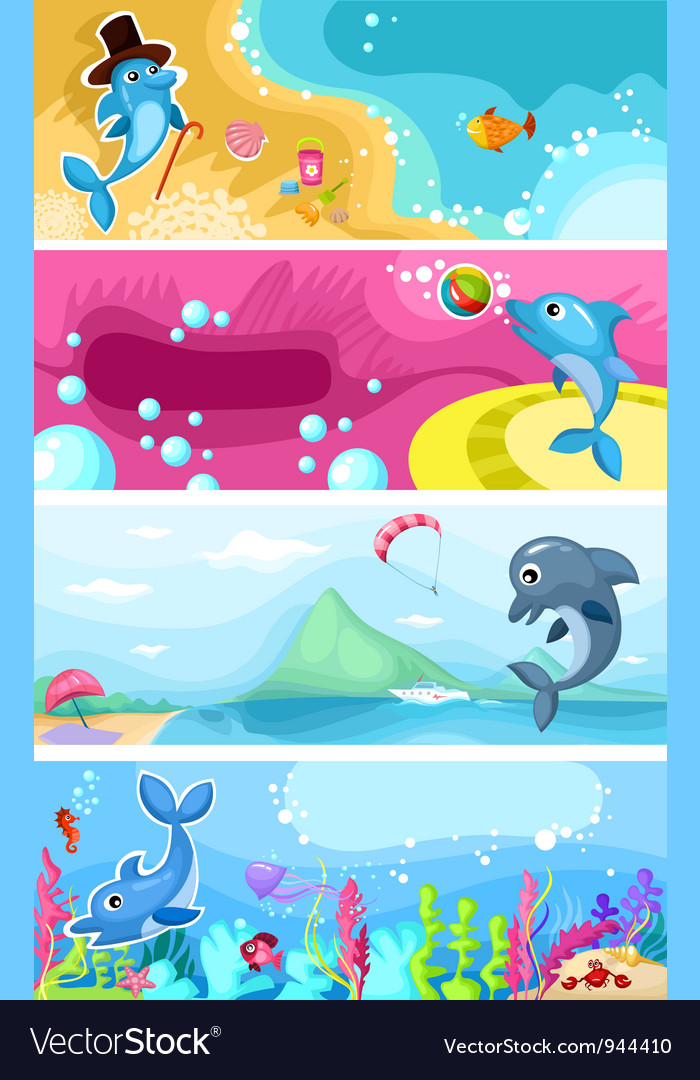 Sea life background vector | Price: 3 Credit (USD $3)
