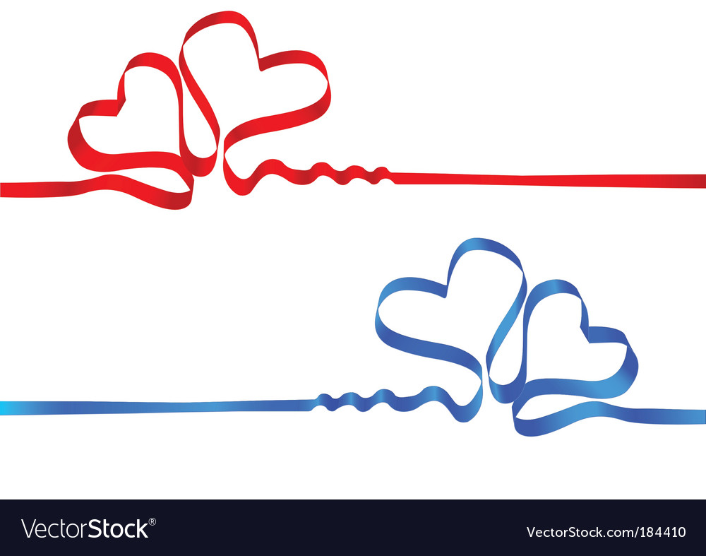 Silk tape heart vector | Price: 1 Credit (USD $1)