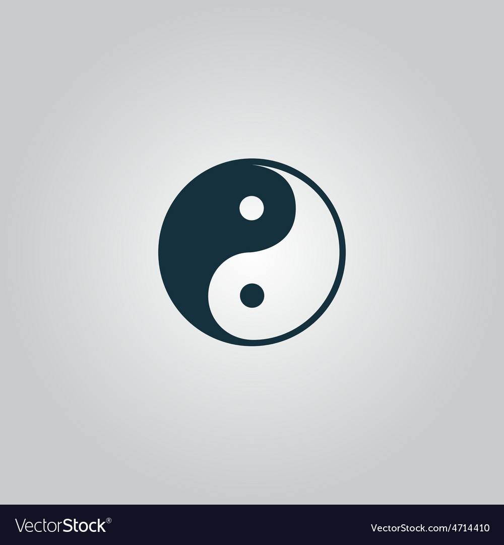 Ying-yang icon of harmony and balance vector | Price: 1 Credit (USD $1)