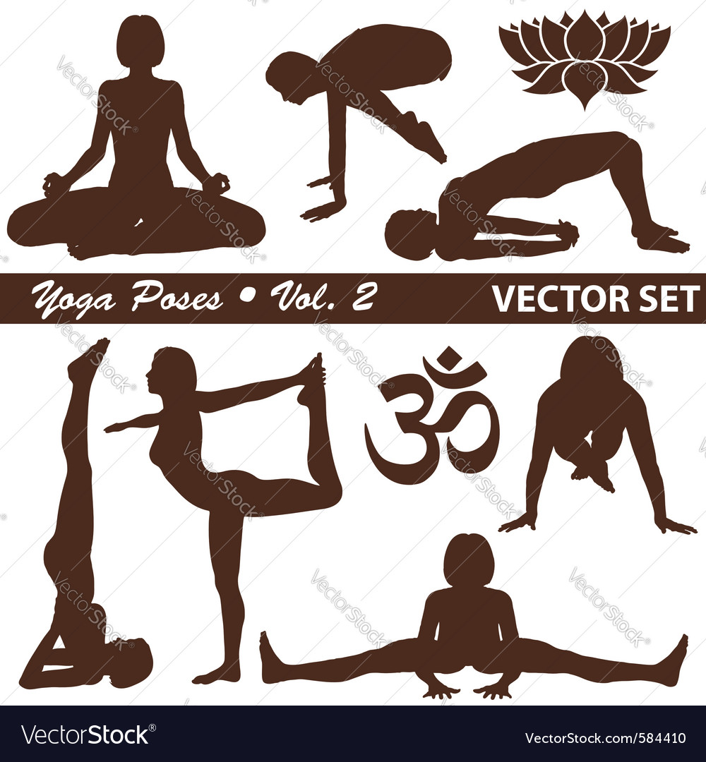 Yoga silhouettes vector | Price: 1 Credit (USD $1)