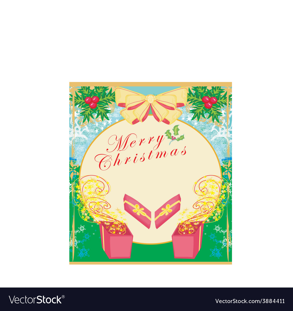 Box with a gift on abstract background vector | Price: 1 Credit (USD $1)