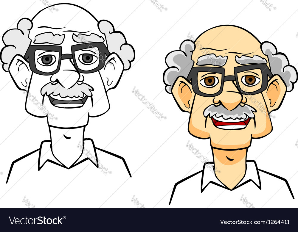 Cartoon senior man vector | Price: 1 Credit (USD $1)