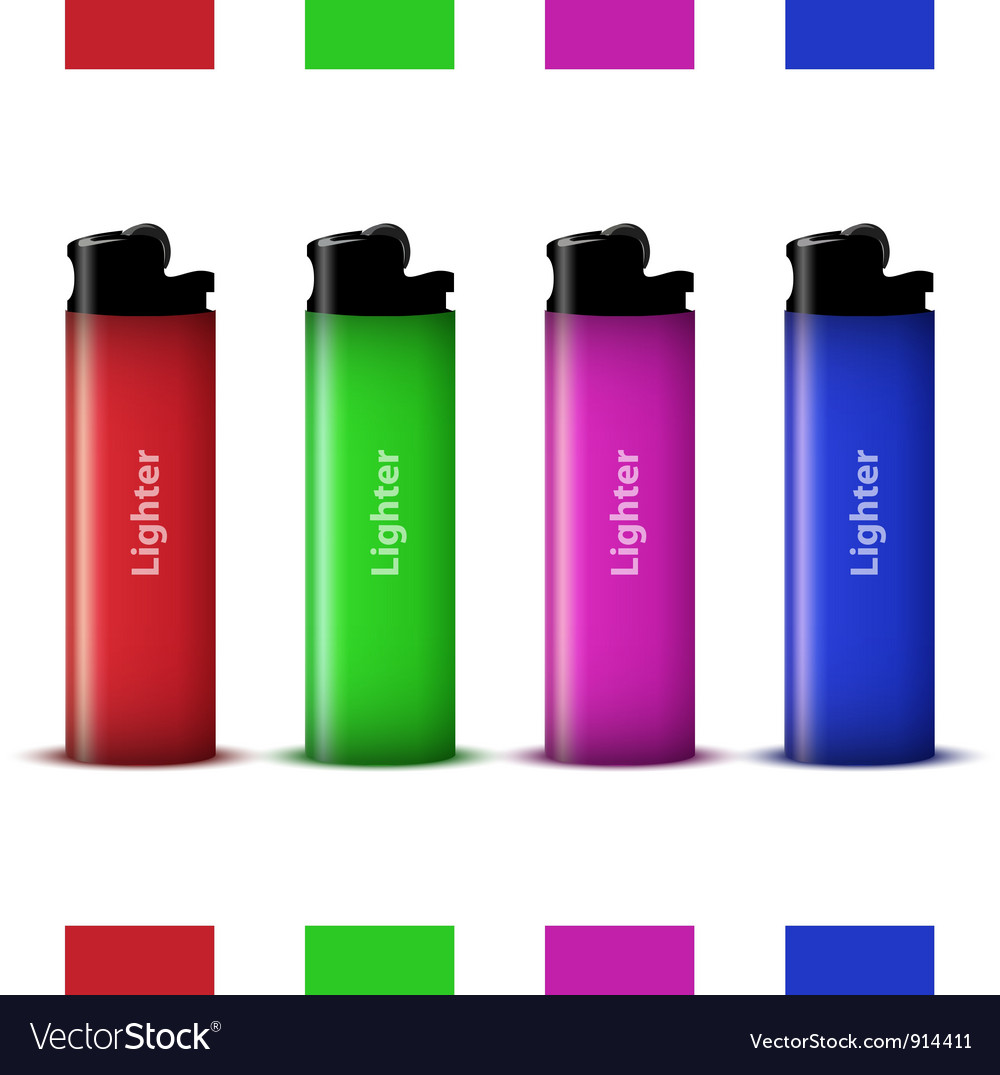 Colored lighters vector | Price: 1 Credit (USD $1)