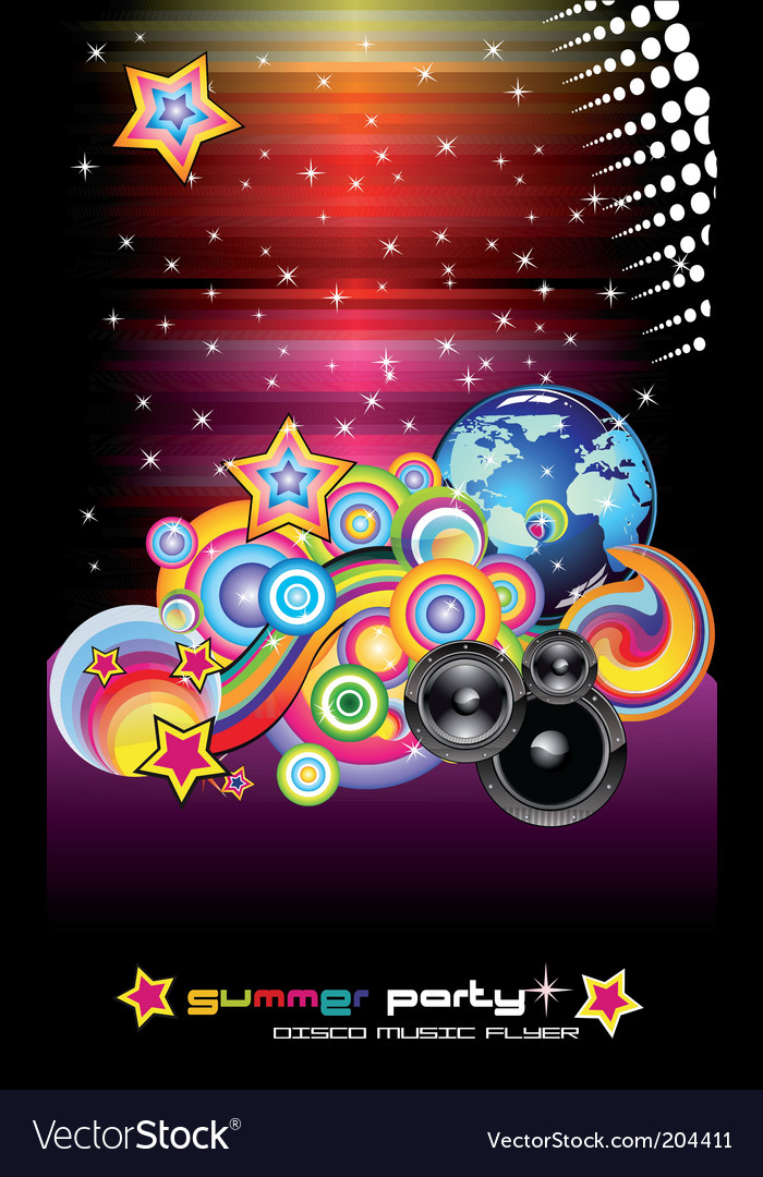 Discotheque dj flyers vector | Price: 3 Credit (USD $3)