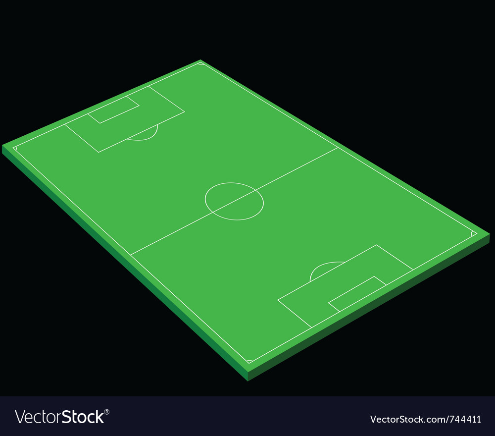 Layout of a football field vector | Price: 1 Credit (USD $1)