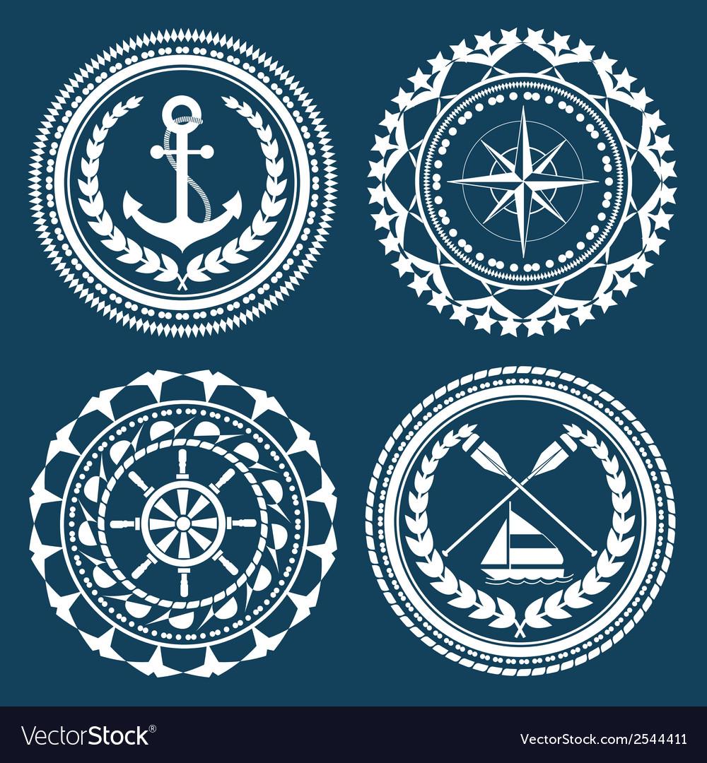 Nautical symbols vector | Price: 1 Credit (USD $1)