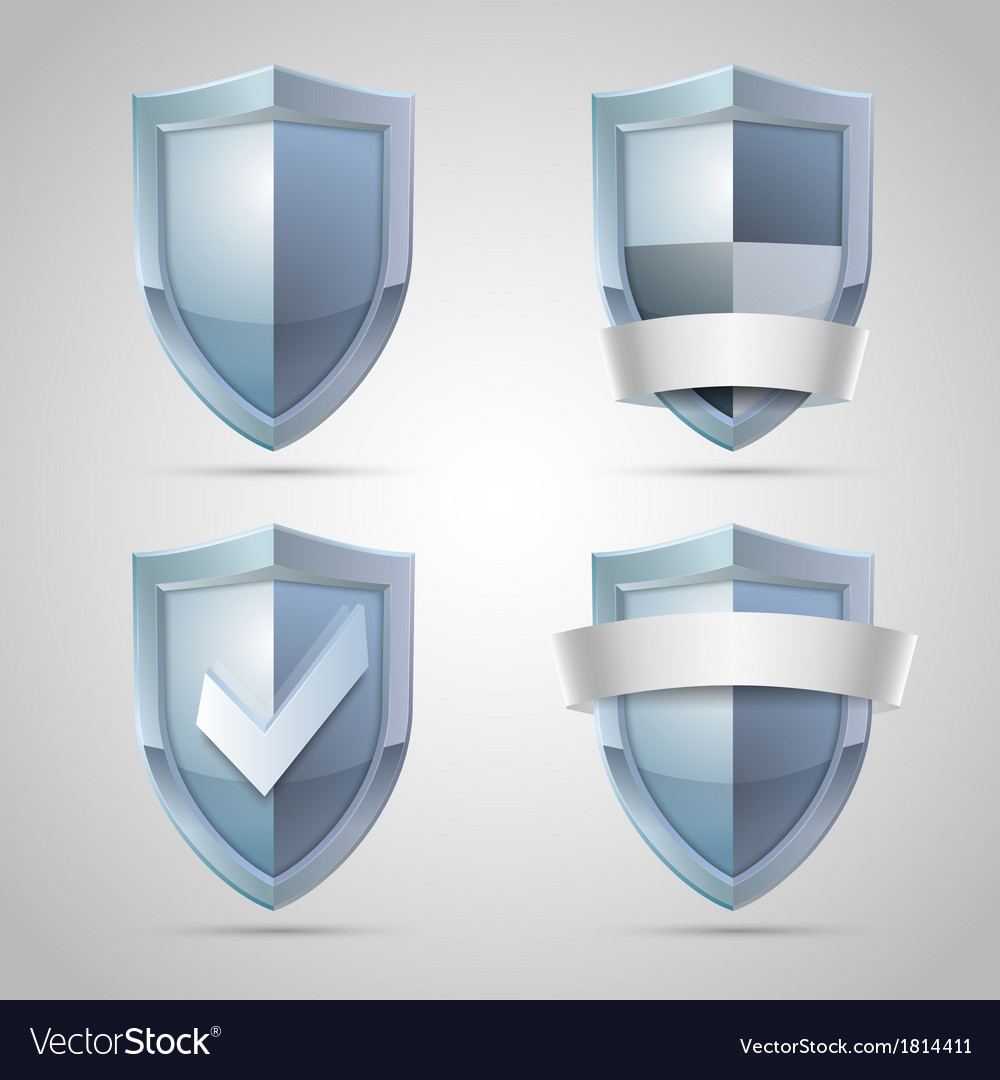 Set of shield icons vector | Price: 1 Credit (USD $1)
