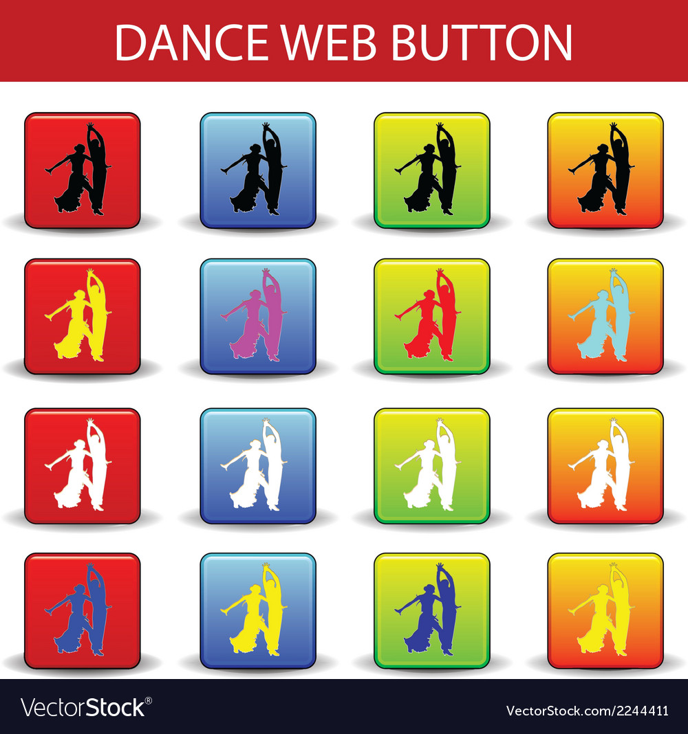 Web button dance vector | Price: 1 Credit (USD $1)
