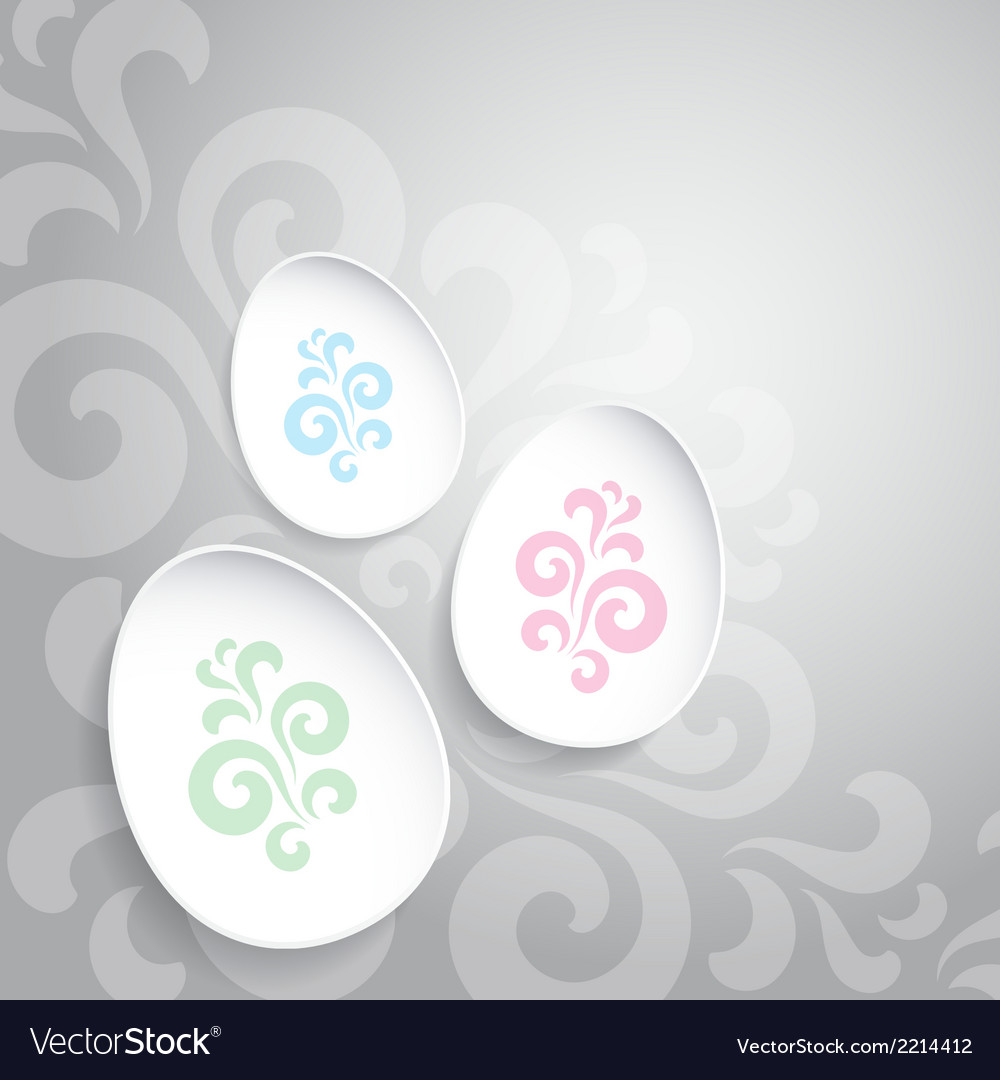 Abstract easter eggs on gray backround vector | Price: 1 Credit (USD $1)