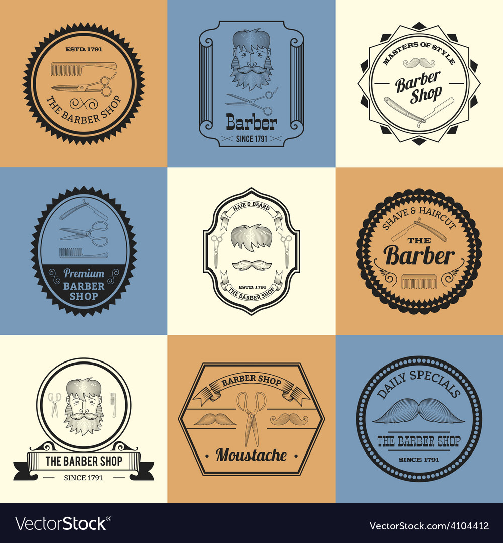 Barber shop logos vector | Price: 1 Credit (USD $1)
