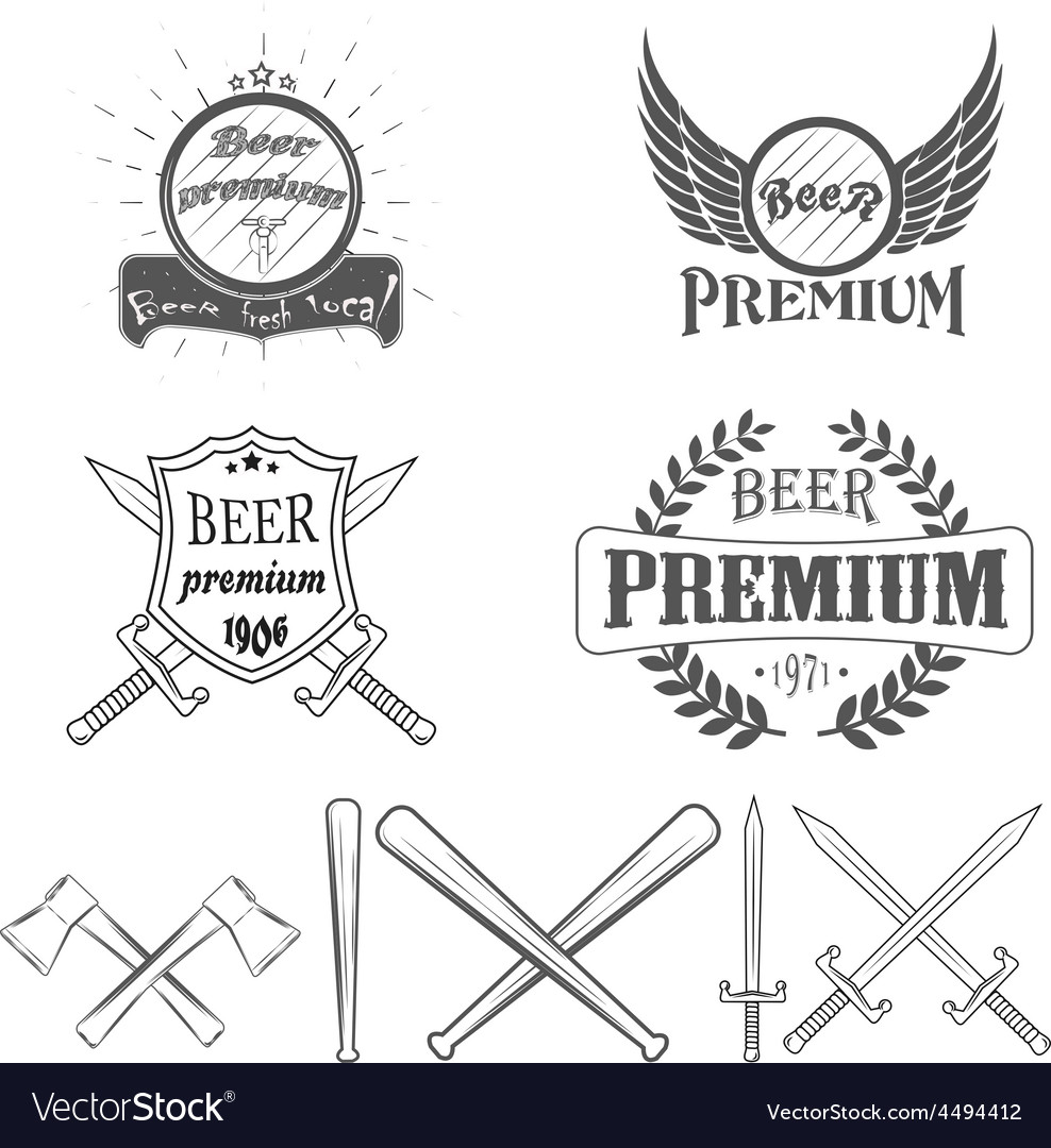 Beer lager premium logos and images vector | Price: 1 Credit (USD $1)