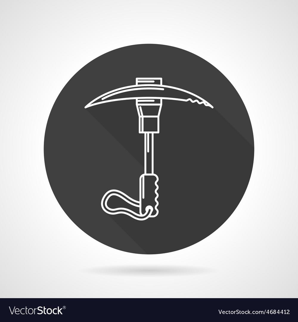 Ice axe black round icon vector | Price: 1 Credit (USD $1)