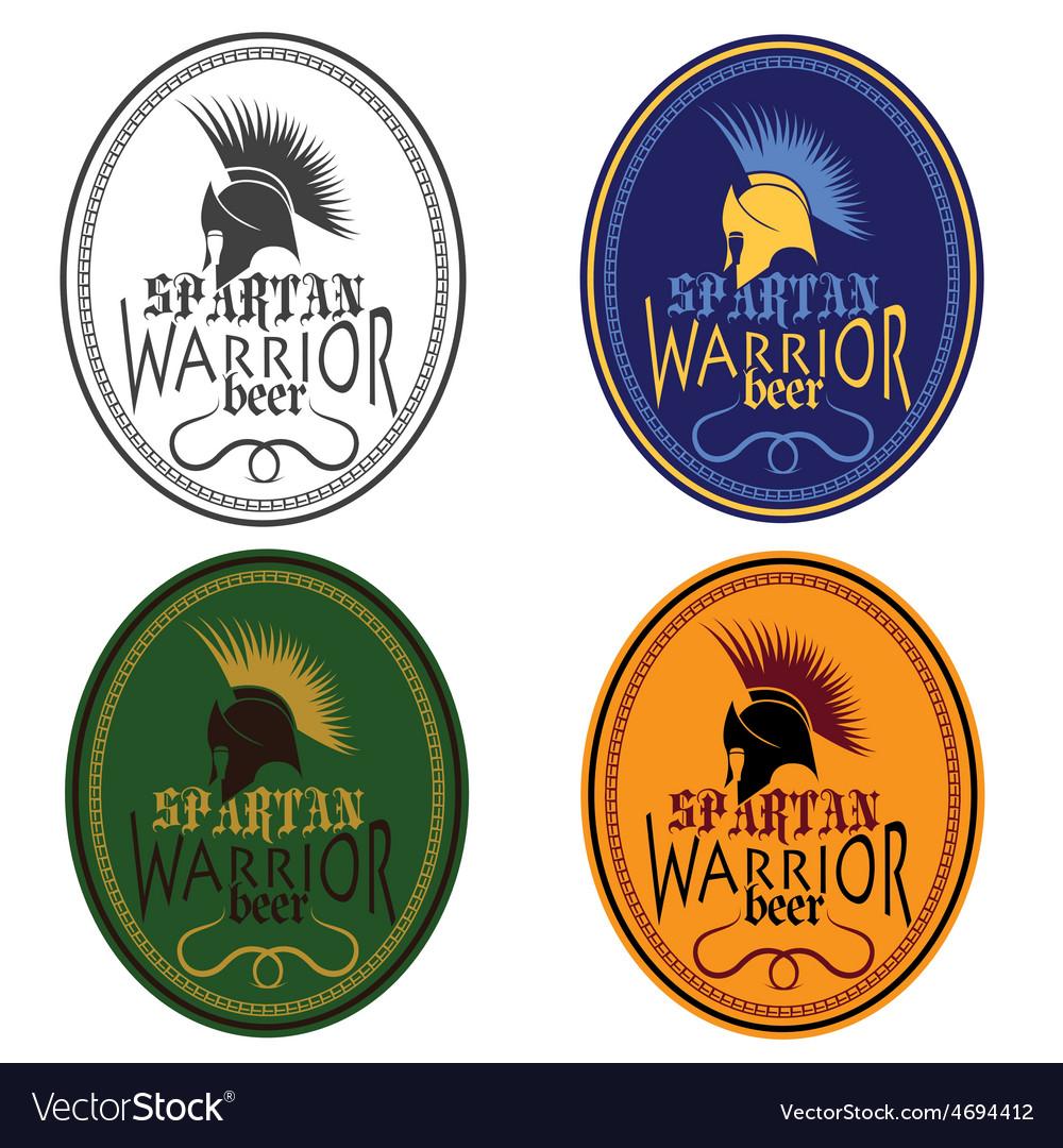 Old vintage antiques spartan warrior beer bottle vector | Price: 1 Credit (USD $1)
