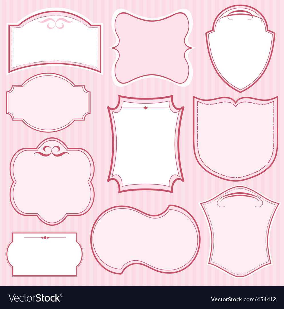pink vector frames vector | Price: 1 Credit (USD $1)