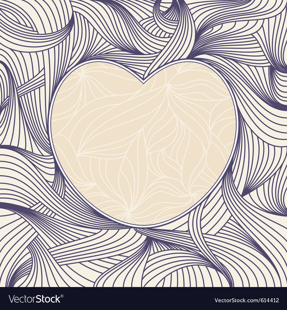 Romantic heart frame vector | Price: 1 Credit (USD $1)