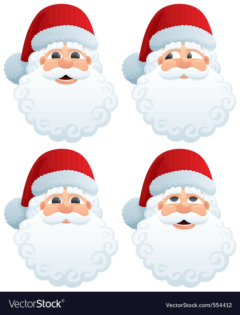 Santas head vector | Price: 1 Credit (USD $1)