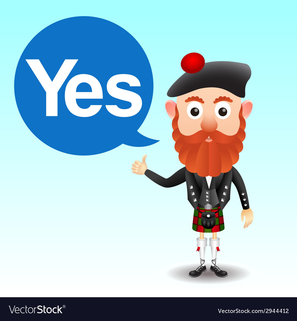 Scottish character in kilt vector | Price: 1 Credit (USD $1)