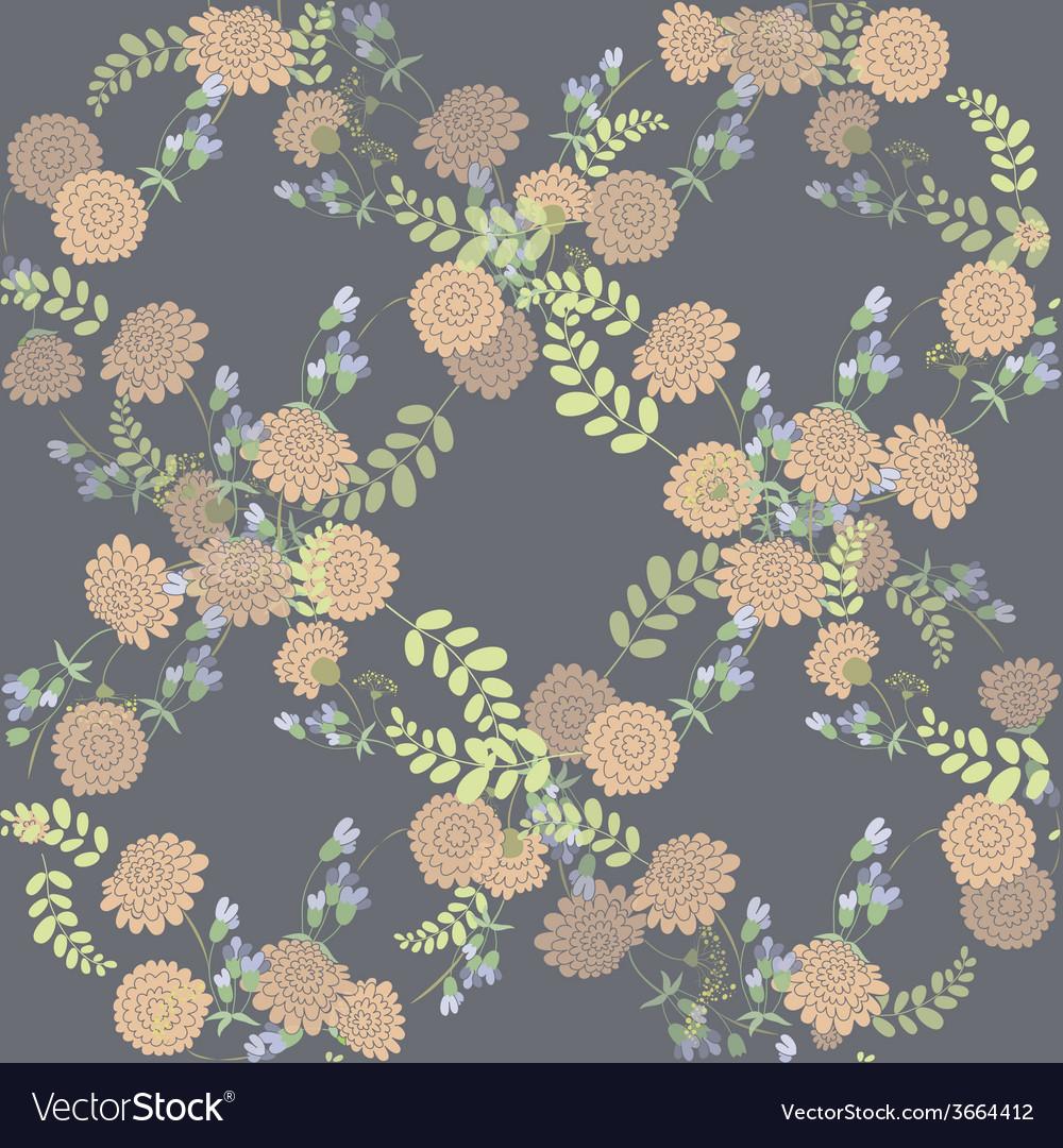 Seamless vintage pink flower pattern vector | Price: 1 Credit (USD $1)