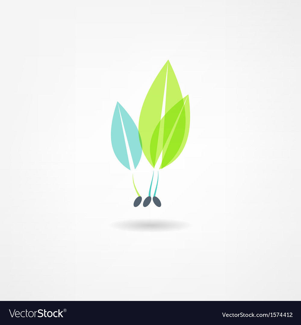 Sprout grain icon vector | Price: 1 Credit (USD $1)