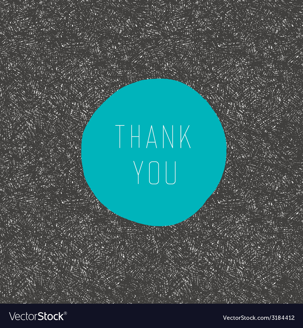 Thank you stylish card vector | Price: 1 Credit (USD $1)