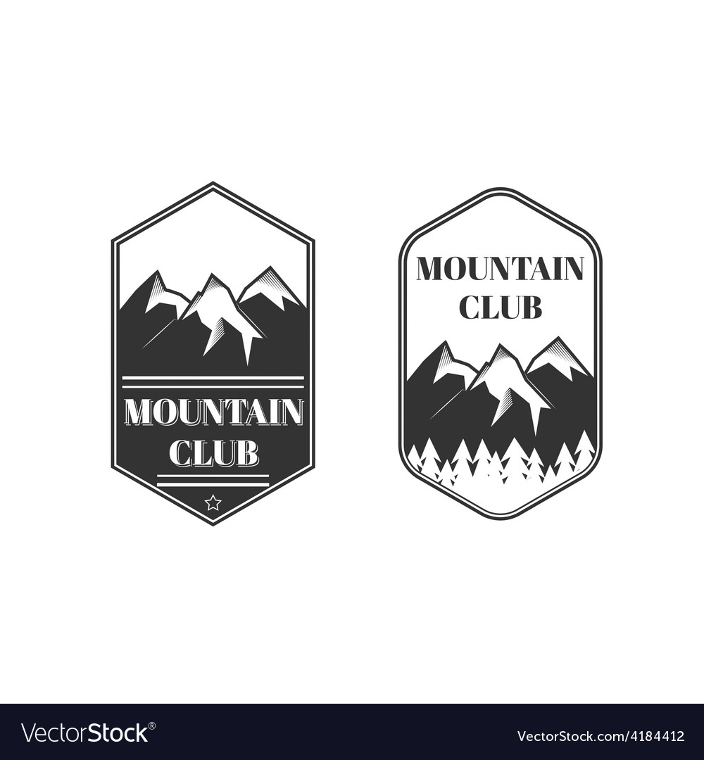 Two vintage mountain labels vector | Price: 1 Credit (USD $1)