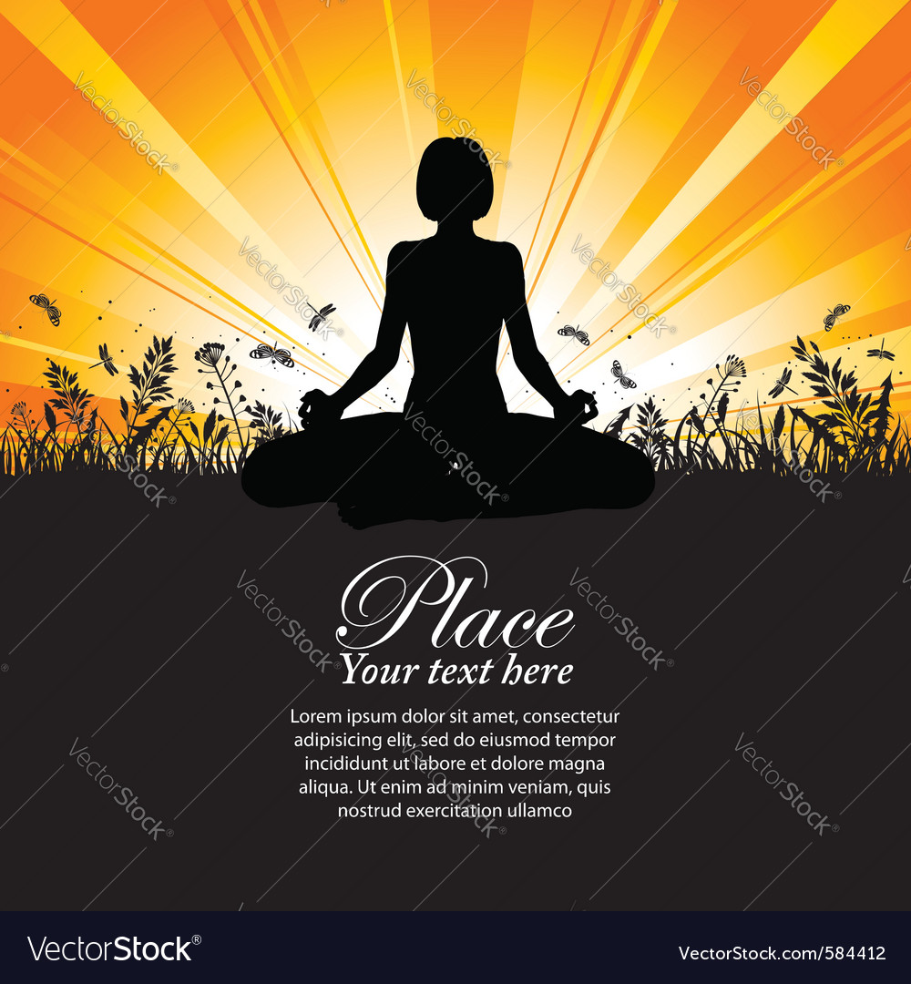 Yoga pose outdoors vector | Price: 1 Credit (USD $1)
