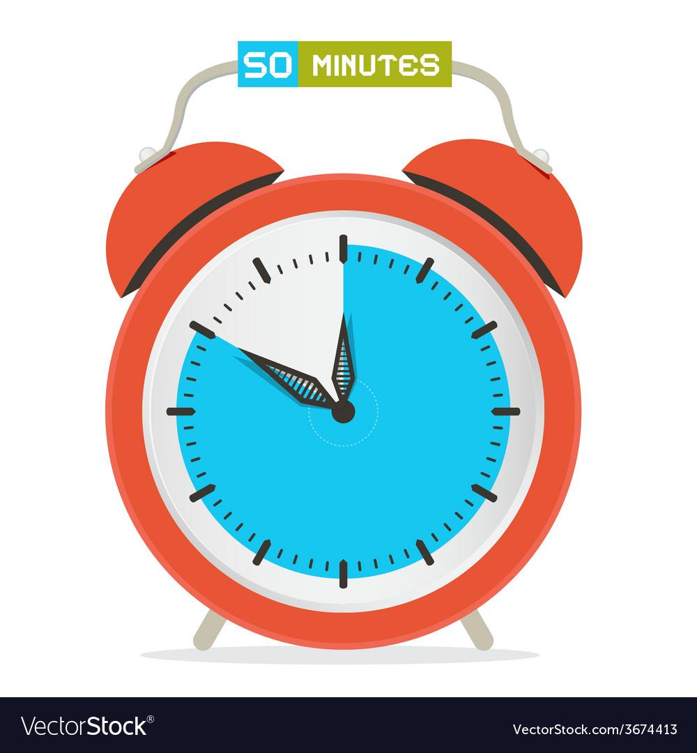 50 - fifty minutes stop watch - alarm clock vector | Price: 1 Credit (USD $1)