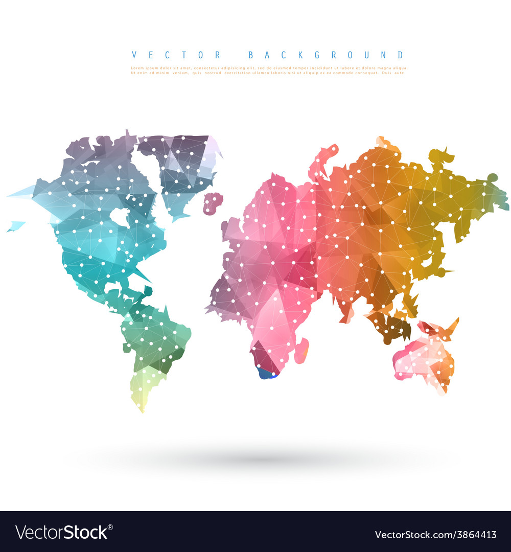Abstract telecommunication earth map vector | Price: 1 Credit (USD $1)