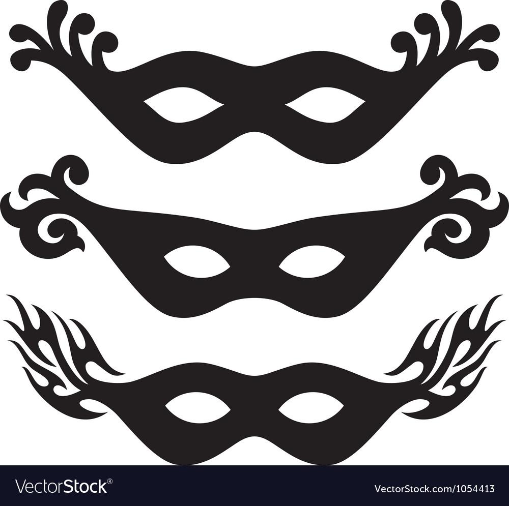 Black carnival masks vector | Price: 1 Credit (USD $1)