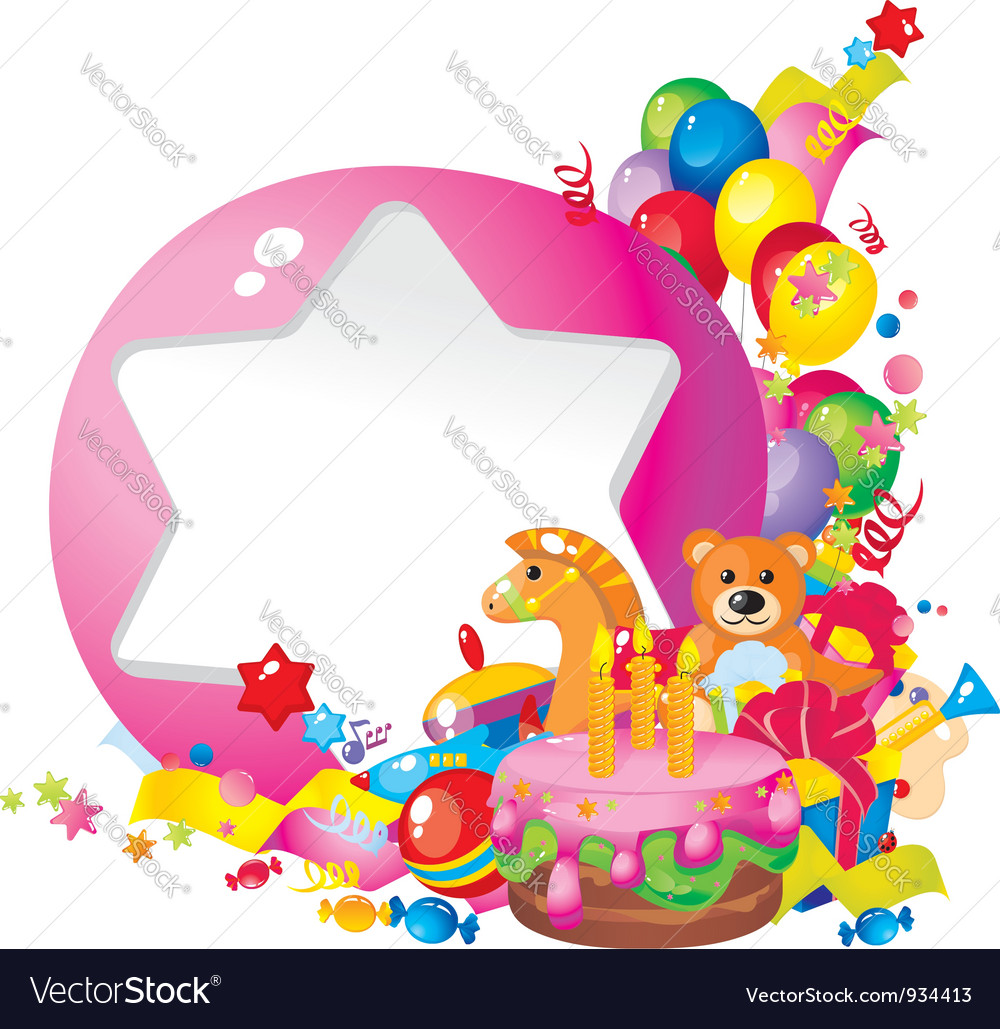 Childrens birthday vector | Price: 3 Credit (USD $3)