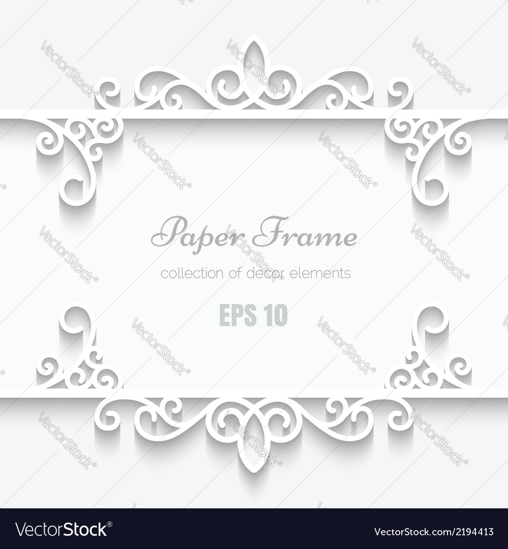 Cutout paper frame vector | Price: 1 Credit (USD $1)