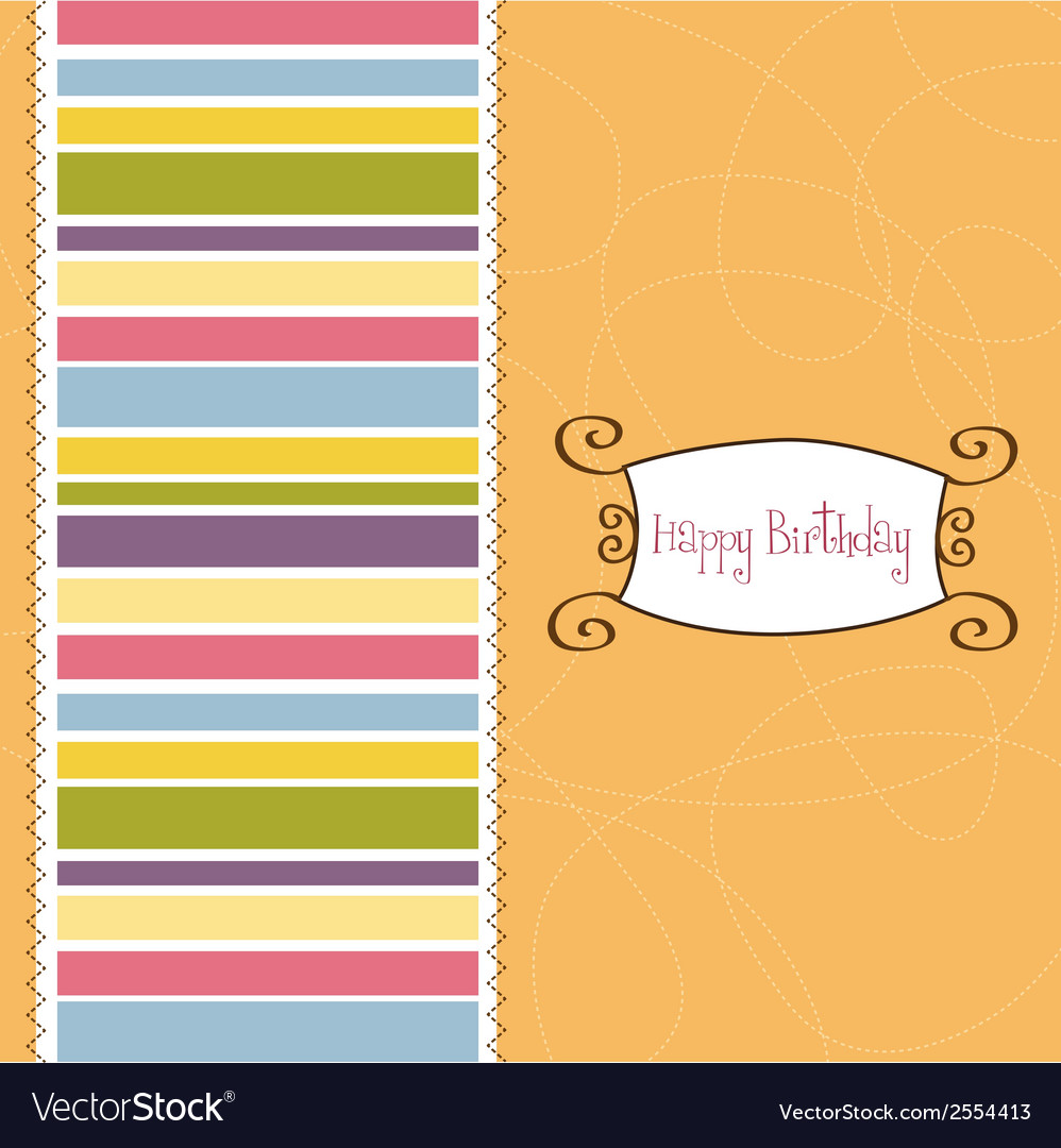 Greeting card template design vector | Price: 1 Credit (USD $1)