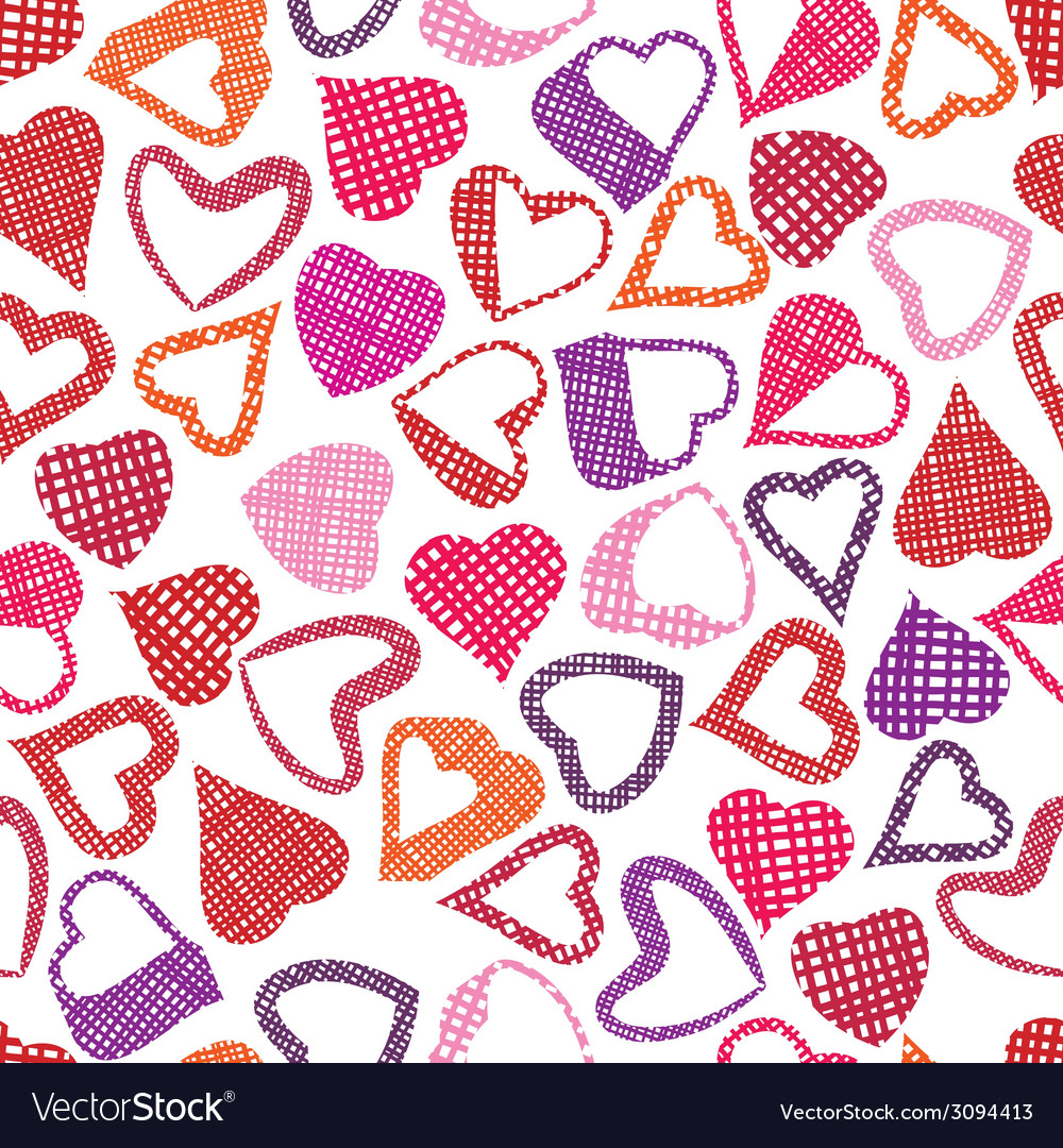 Hears seamless pattern love valentine and wedding vector | Price: 1 Credit (USD $1)