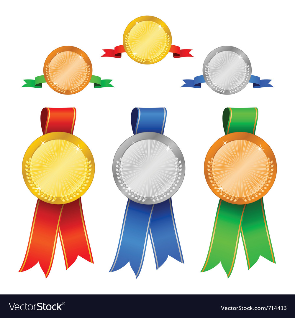 Medals set 1 vector | Price: 1 Credit (USD $1)