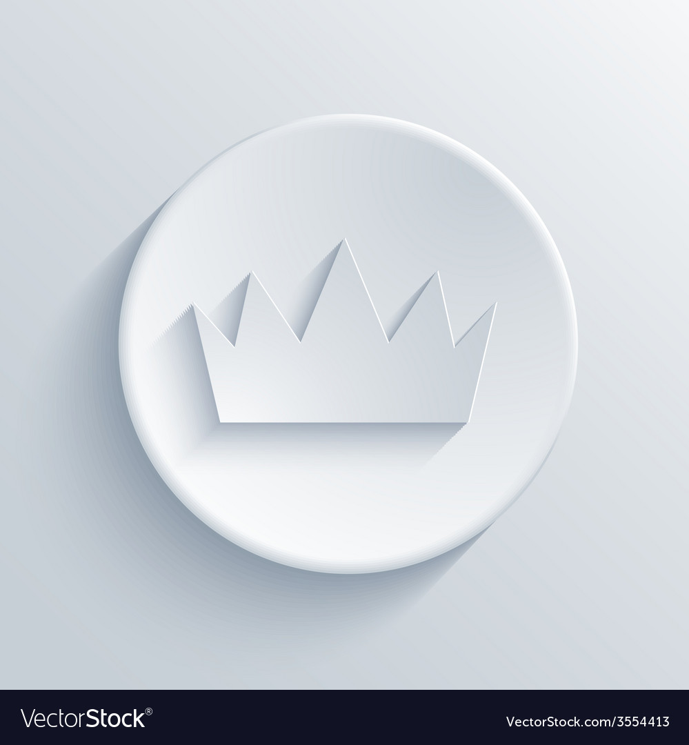 Modern crown on gray background vector | Price: 1 Credit (USD $1)