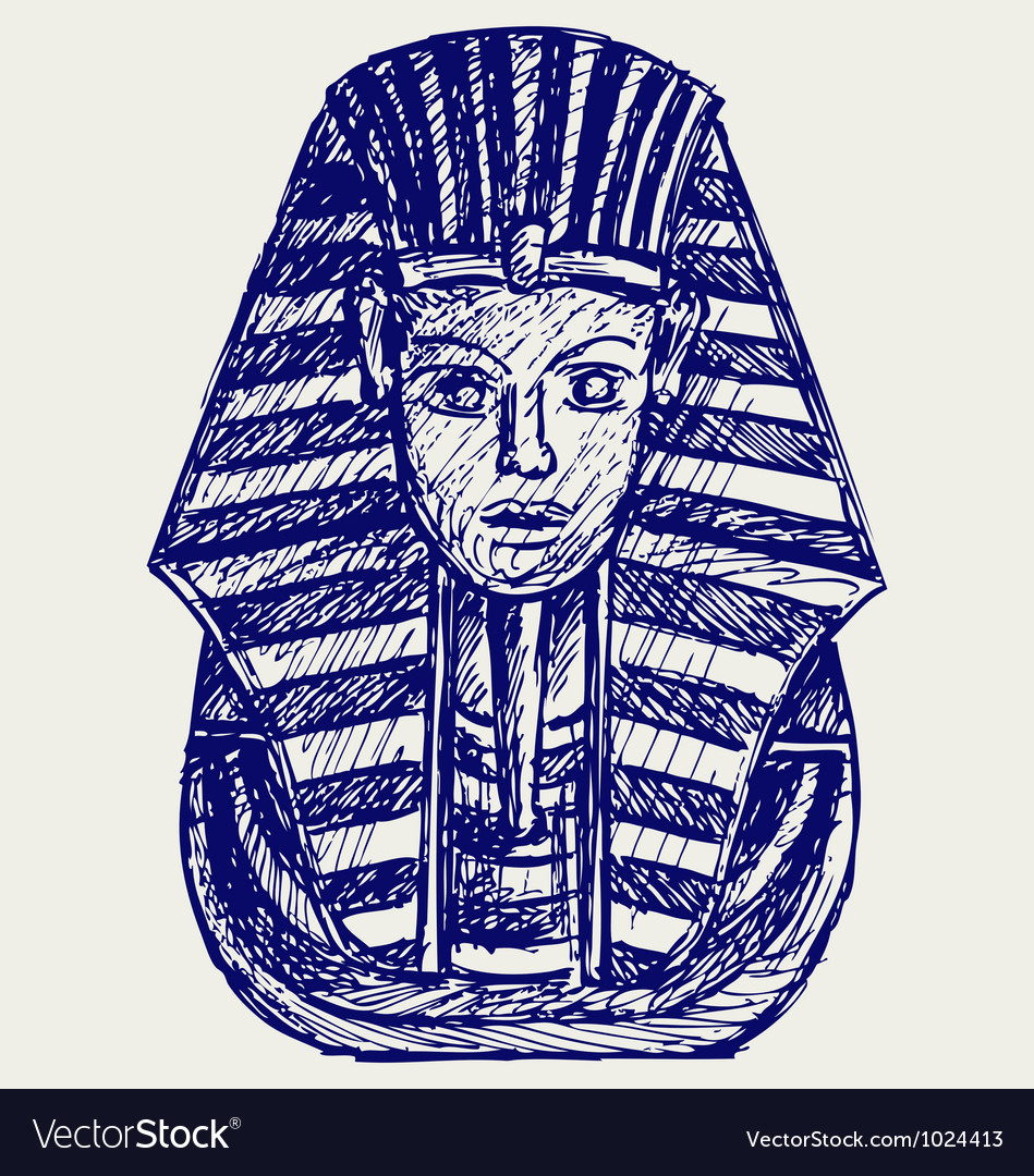 Portrait of pharaoh vector | Price: 1 Credit (USD $1)