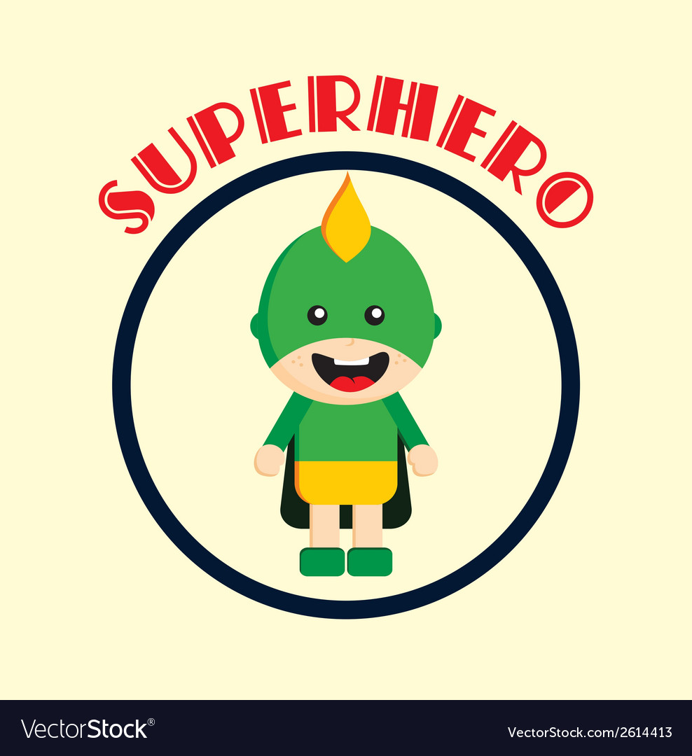 Video game superhero vector | Price: 1 Credit (USD $1)