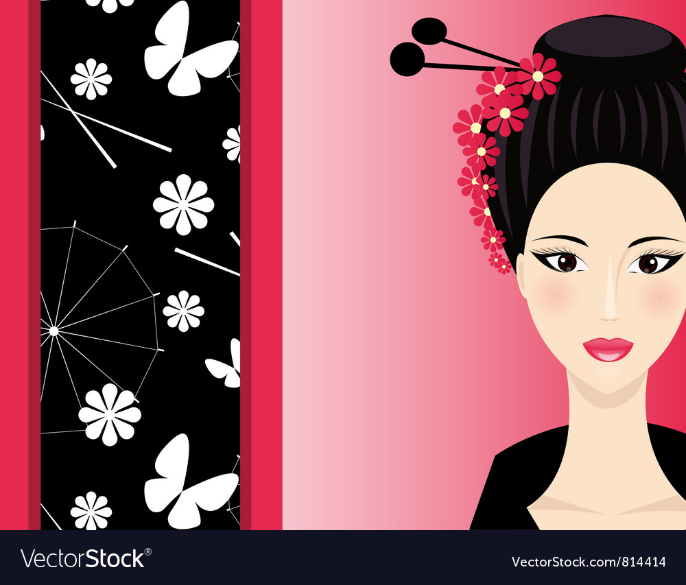 Background with girl vector | Price: 1 Credit (USD $1)