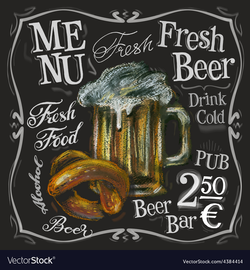 Beer bar logo design template alcoholic vector | Price: 3 Credit (USD $3)