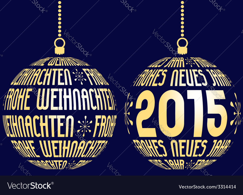 Christmas new year german vector | Price: 1 Credit (USD $1)