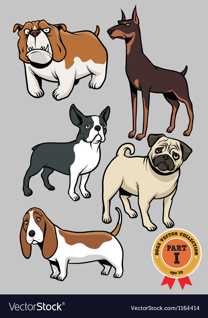 Dogs collection part 1 vector | Price: 3 Credit (USD $3)