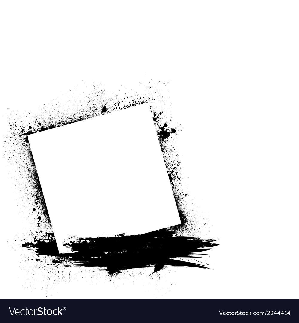 Grunge ink blots white vector | Price: 1 Credit (USD $1)