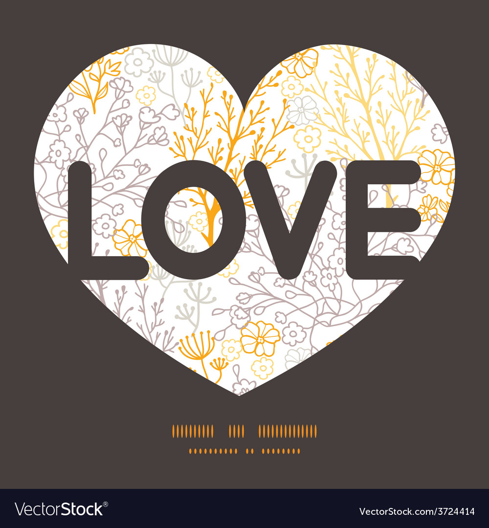 Magical floral love text frame pattern vector | Price: 1 Credit (USD $1)