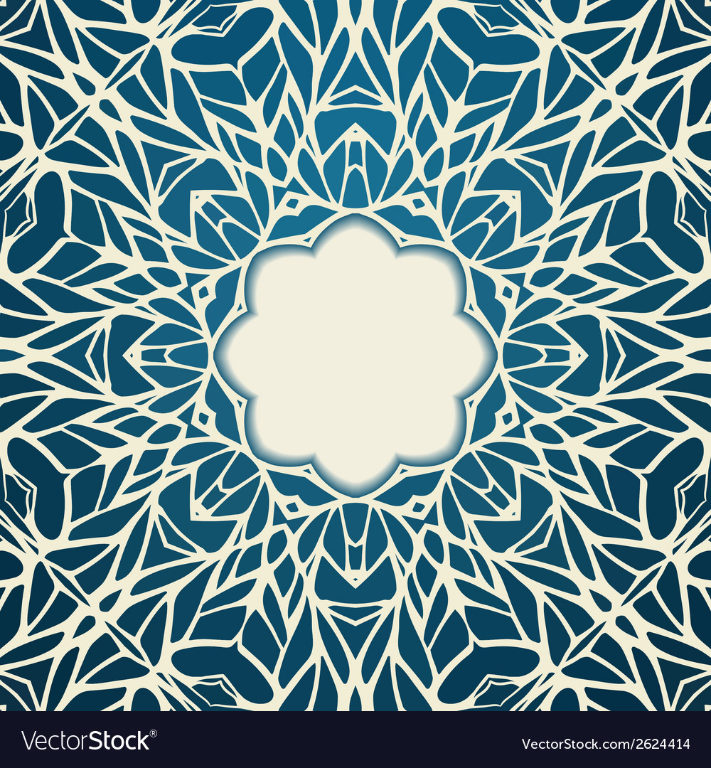 Mosaic ornamental lace frame abstract background vector | Price: 1 Credit (USD $1)