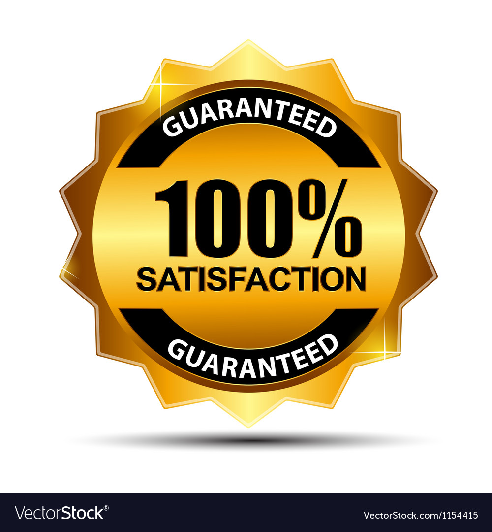 100 satisfaction guaranteed label vector | Price: 1 Credit (USD $1)