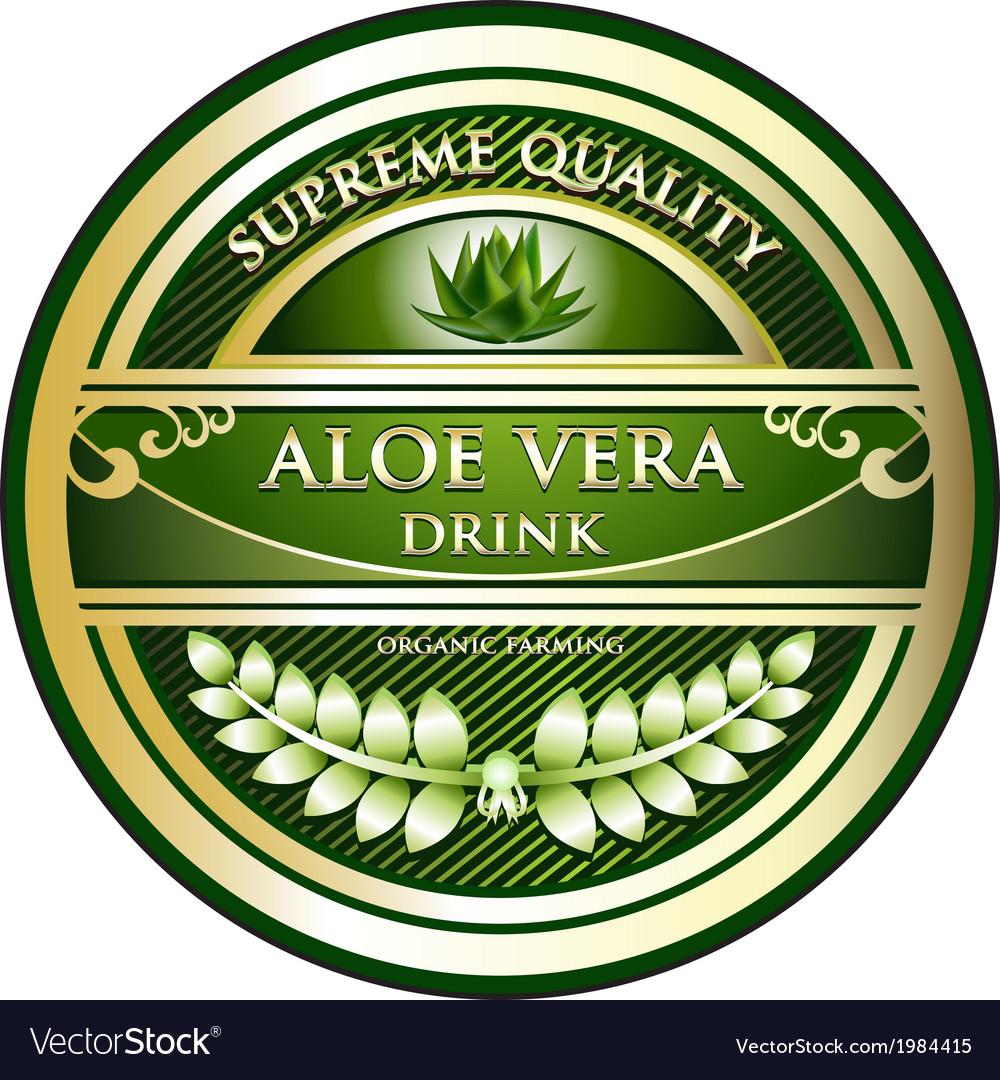 Aloe vera drink label vector | Price: 1 Credit (USD $1)