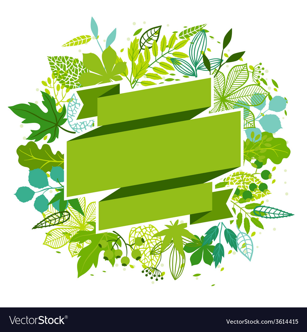 Background of stylized green leaves vector | Price: 1 Credit (USD $1)