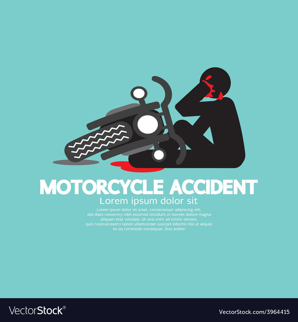 Biker with motorcycle have an accident vector | Price: 1 Credit (USD $1)