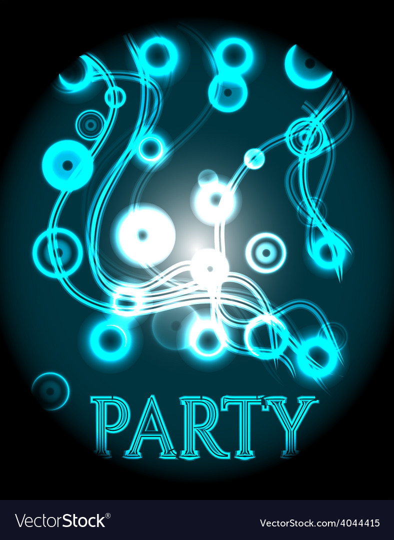 Blue poster - party vector | Price: 1 Credit (USD $1)