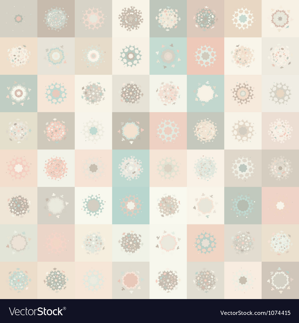 Christmas snowflake seamless pattern vector | Price: 1 Credit (USD $1)